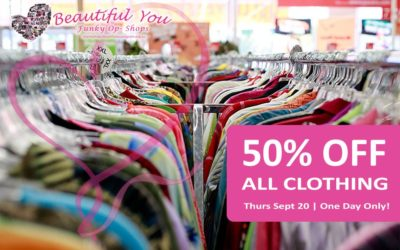 50% OFF All Clothing | This Thursday – ALL STORES!